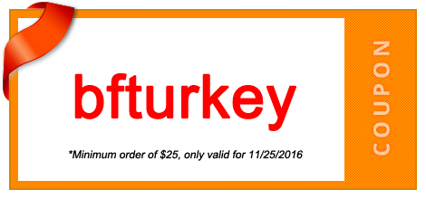 coupon code is bfturkey